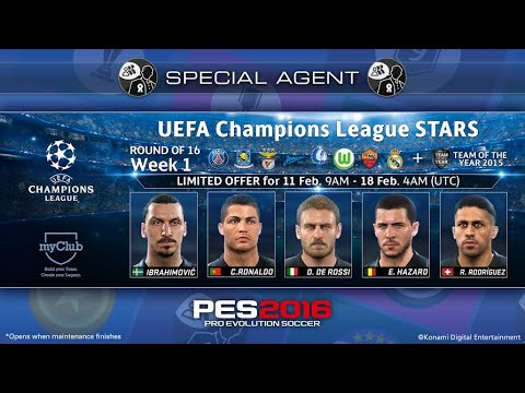 PES 2016 - Ball opening EPICO: UEFA Champions League Stars + TEAM OF THE YEAR 2015.