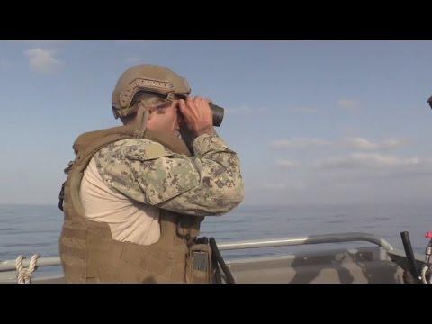 Sailors of Coastal Riverine Squadron 1 Patrol Waters of East Africa