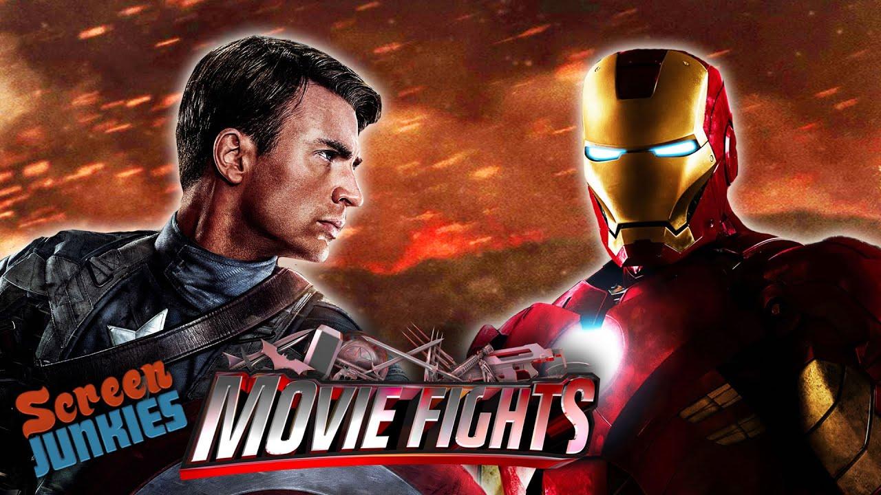 Captain America vs. Iron Man - MOVIE FIGHTS! - YouTube