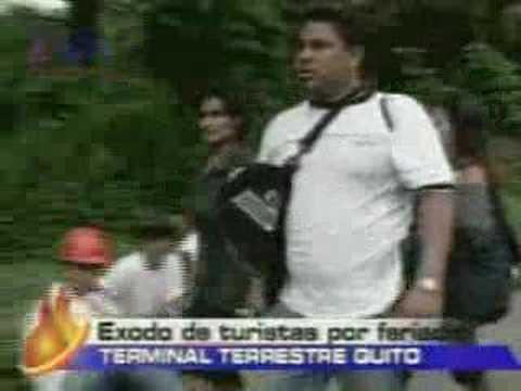 Inició exodo de turismo por feriado