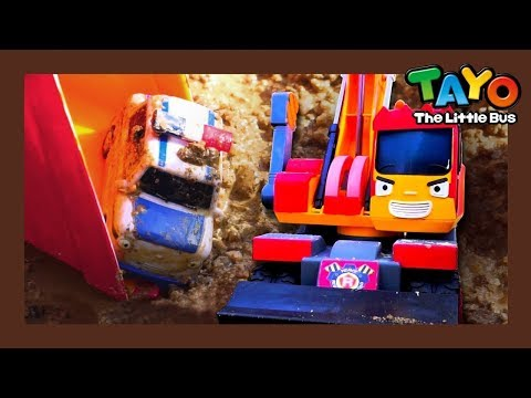 Tayo Cars are trapped in mud! l Tayo Heavy Vehicles Squad l Tayo the little bus