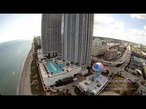 Hallandale Beach Florida Aerial Video