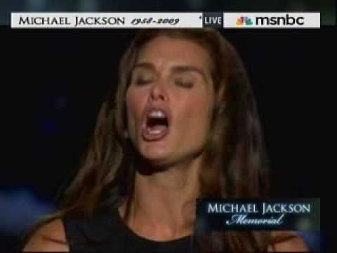 Michael Jackson Memorial Service - Brooke Shields