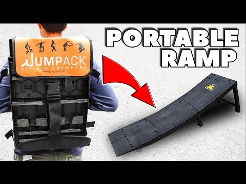 BACK PACK SKATE RAMP!! *Portable & Light Weight!*