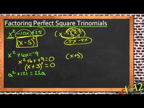Factoring Perfect Square Trinomials: A Sample Application