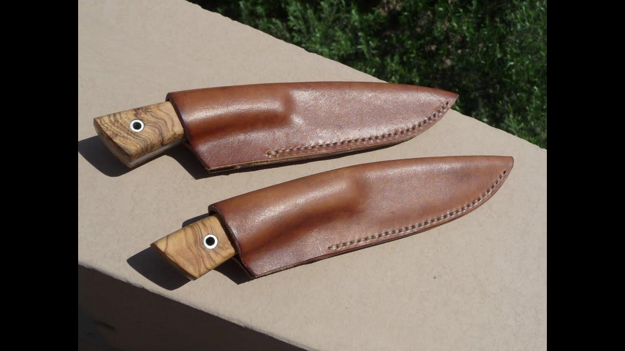 making leather knife sheath youtube. Black Bedroom Furniture Sets. Home Design Ideas