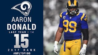 #15: Aaron Donald (DT, Rams) | Top 100 Players of 2017 | NFL