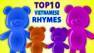 top 10 vần điệu trẻ   Top 10 Vietnamese Rhymes   Jelly Bears Vietnam   nhac thieu nhi hay nhất
