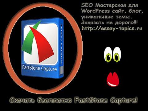 Как сделать видео для сайта? Скачать бесплатно FastStone Capture!
