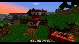 Minecraft - How to blow a hill easy! WTF TNT FLYING!