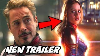 Captain Marvel Saves Tony Avengers Endgame New TV Spot Breakdown Hindi
