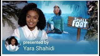Yara Shahidi welcome's you to the SMALLFOOT playlist