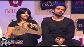Ek Thi Dayan - Emraan Hasmi & Ekta Kapoor  At 'Ek Thi Dayan'  Official Trailer Launch