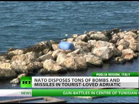 Tons of bombs & toxic waste await tourists in Italy