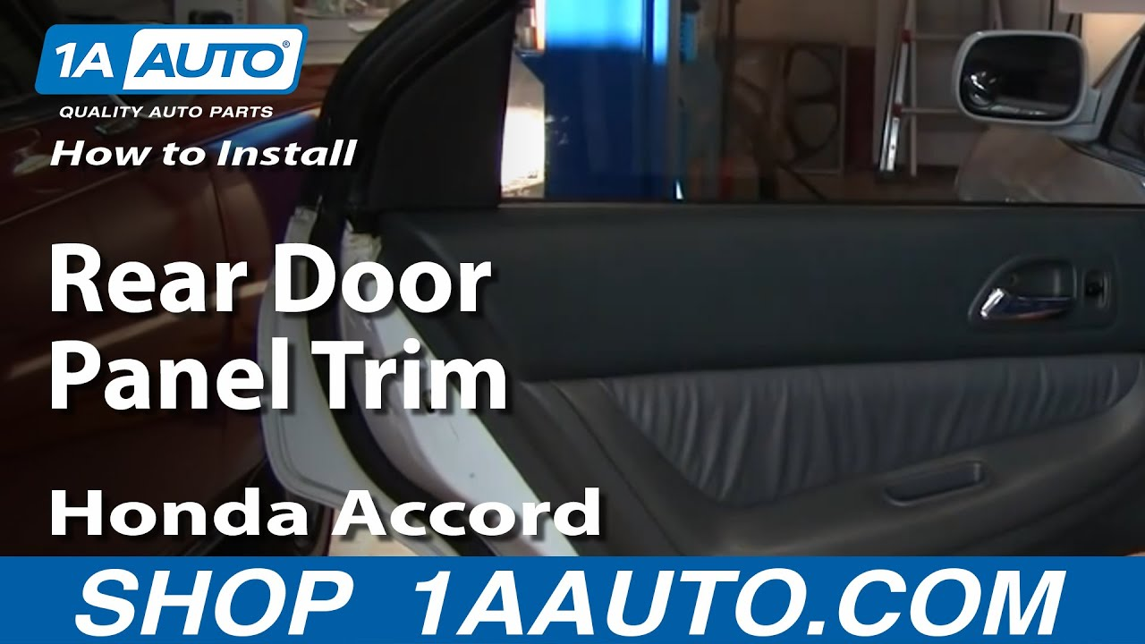 How To Install Remove Rear Door Panel Trim Honda Accord 94