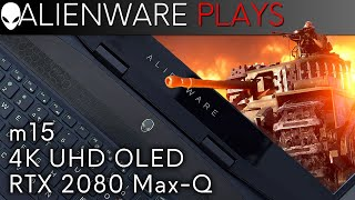 Alienware m15 4k OLED Gaming Laptop - Battlefield V Gameplay (RTX 2080 Max-Q)