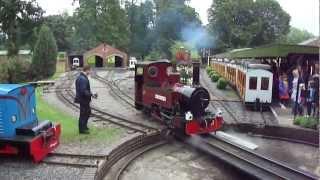 Longleat Safari Park Railway Jungle Express Narrow Gauge Steam & Diesel Trains, August 2011
