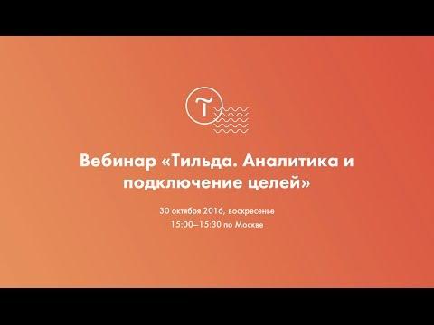 """Вебинар """"Тильда. Подключение и настройка целей в Google Analytics и Яндекс Метрике"""" 30.10.16"""