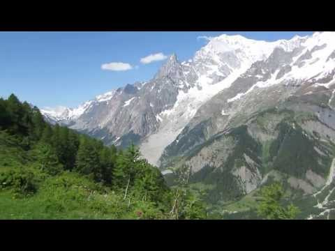 Hiking: Mont Blanc, Chamonix Valley, France, Courmayeur, Italy