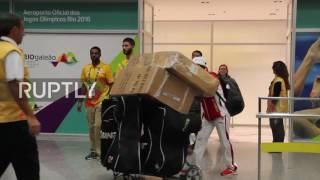 Brazil: Russia's Olympic horse riding team arrive in Rio