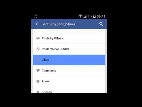 Explore Your Facebook Activity Log On Facebook On Android - YouTube