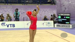RIZATDINOVA Ganna (UKR) - 2014 Rhythmic Worlds, Izmir (TUR) - Qualifications Ball