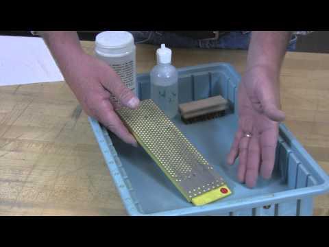 Video of Cleaning DMT Diamond Whetstones