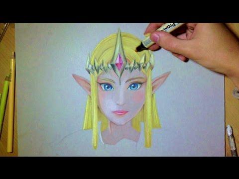 Comment dessiner princesse zelda tutoriel youtube - Comment dessiner princesse ...