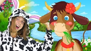 Cow Finger Family Song and Educational Nursery Rhymes For Kids