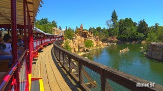 [4k] New River Route on Disneyland Railroad Train Ride