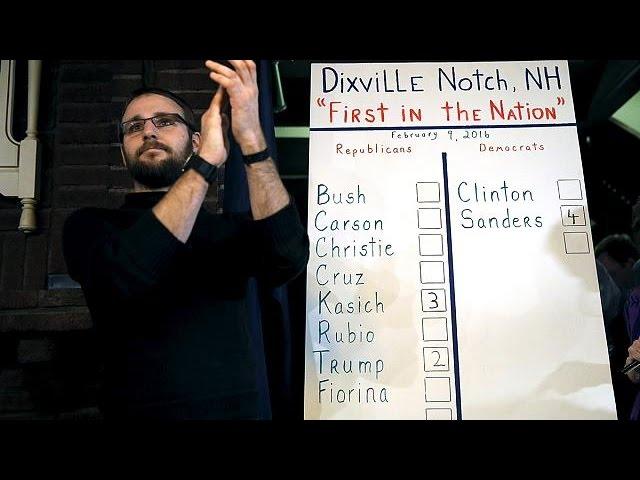 """USA: à Dixville Notch, les """"premiers à voter"""" donnent le ton"""