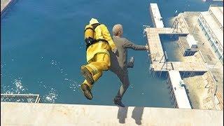 GTA 5 CRAZY Jumps/Falls Compilation #11 (GTA V Ragdolls Fails Funny Moments)