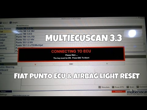 Multiecuscan 3.3 ECU & Airbag Light Reset Fiat Punto