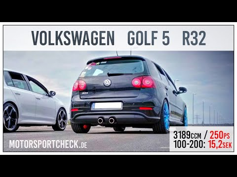 VW Golf V R32 DSG 0-100 0-200 Sound Acceleration