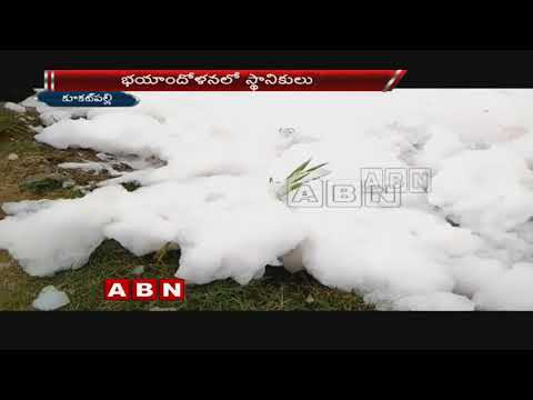 Toxic foam rises again at Dharaninagar nala in Kukatpally