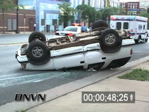6/20/2005 Car Vs SUV aftermath footage where SUV Flipped Over