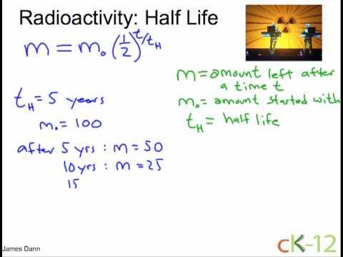 Solve half life problems