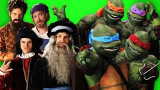 Artists vs Turtles. Behind the Scenes of Epic Rap Baes of History.