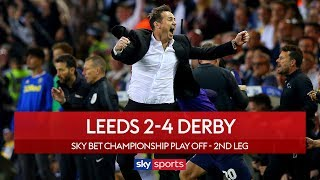 Derby stun Leeds | Leeds 2-4 Derby | Highlights | Championship Play-Off Semi-Final
