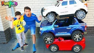 Collecting Colors Cars with Power Wheels Toys for Kids