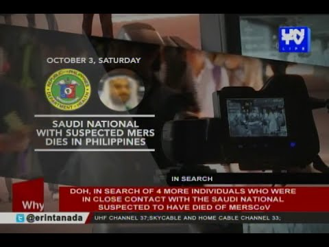 DOH denies news on a confirmed case  of MERS-CoV