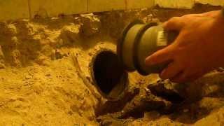 HT Rohr in Gussrohrmuffe installieren
