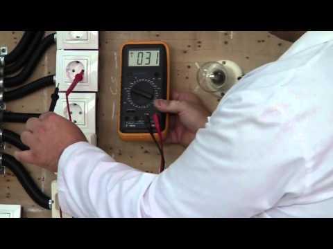 Instalación Eléctrica en Vivienda - Avería nº 01 sincronización de Fase y Neutro.MP4