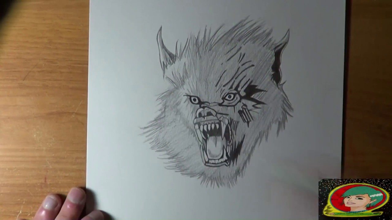 Dessin loup garou sp cial vid o halloween youtube - Dessin de loup simple ...