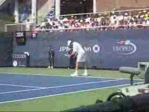 Ivo Karlovic vs. Arnaud Clement Video