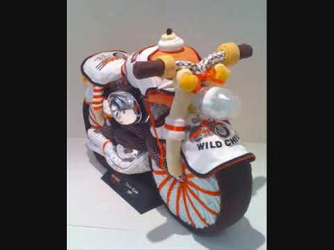 unique diaper cakes baby shower gift ideas harley davidson motorcycle
