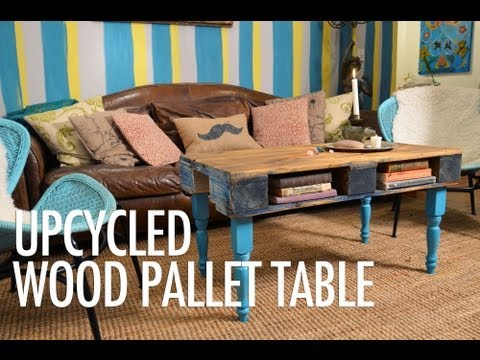 DIY Wood Pallet Coffee Table with Mr. Kate