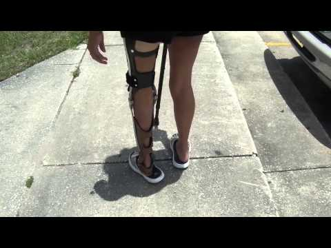 Walking in an Ankle Knee Foot Orthosis, Please help