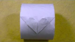 Toilet Paper Origami Heart =d