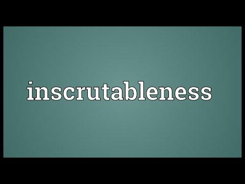 Header of inscrutableness